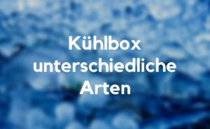 Kühlbox Arten
