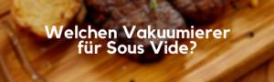 Welchen Vakuumierer für Sous Vide